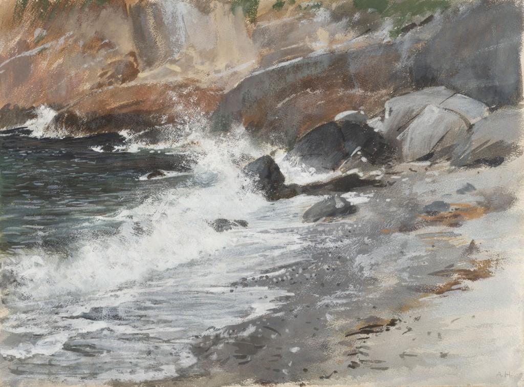 scogliera marina - Adolf Hiremy Hirschl