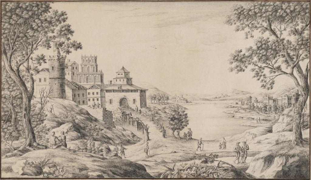 paesaggio di Olmutz - Karl Josef Aigen