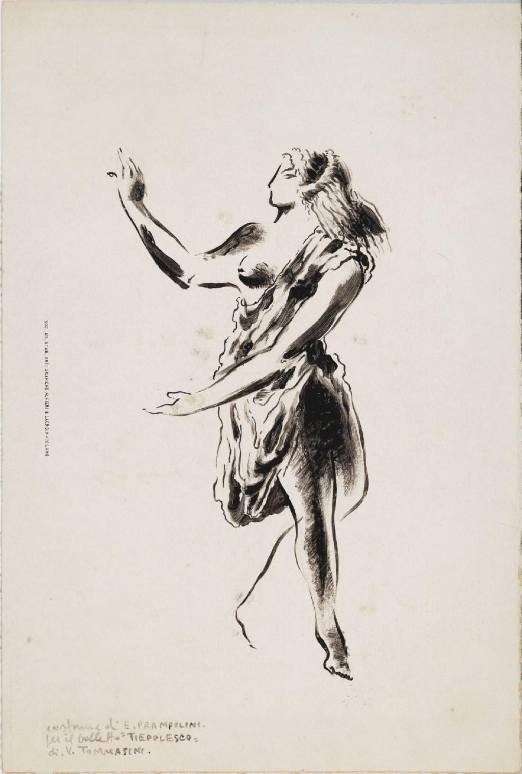 Bozzetto per costume teatrale - Enrico Prampolini