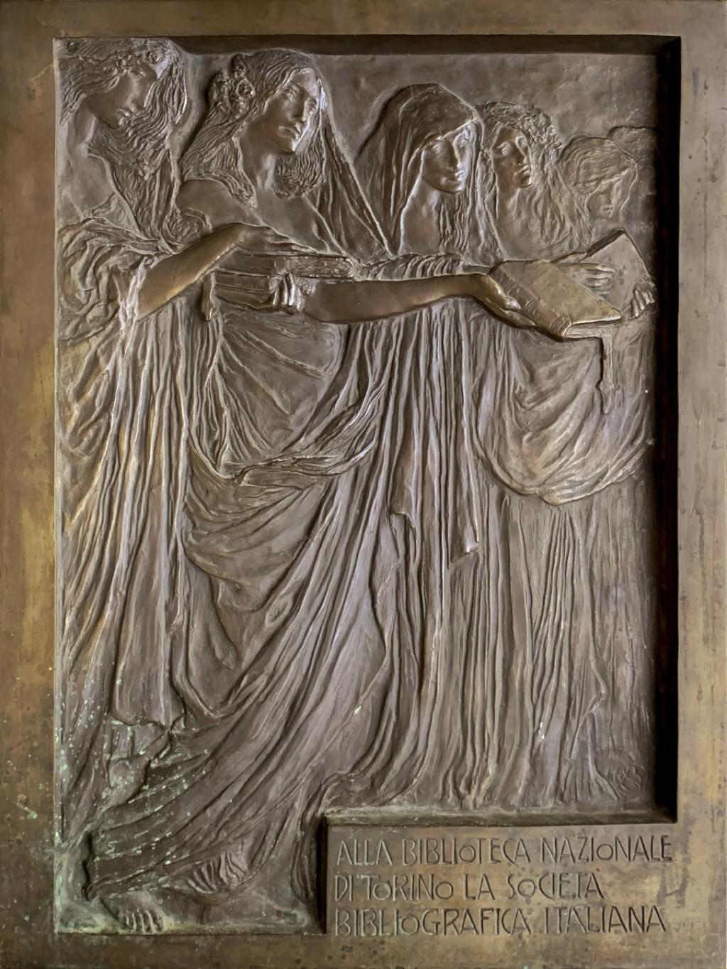 bassorilievo per la Biblioteca Nazionale di Torino - Leonardo Bistolfi