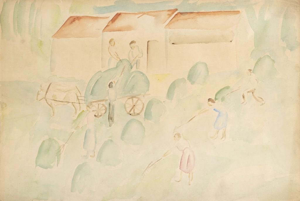 Il lavoro nei campi - Ubaldo Oppi
